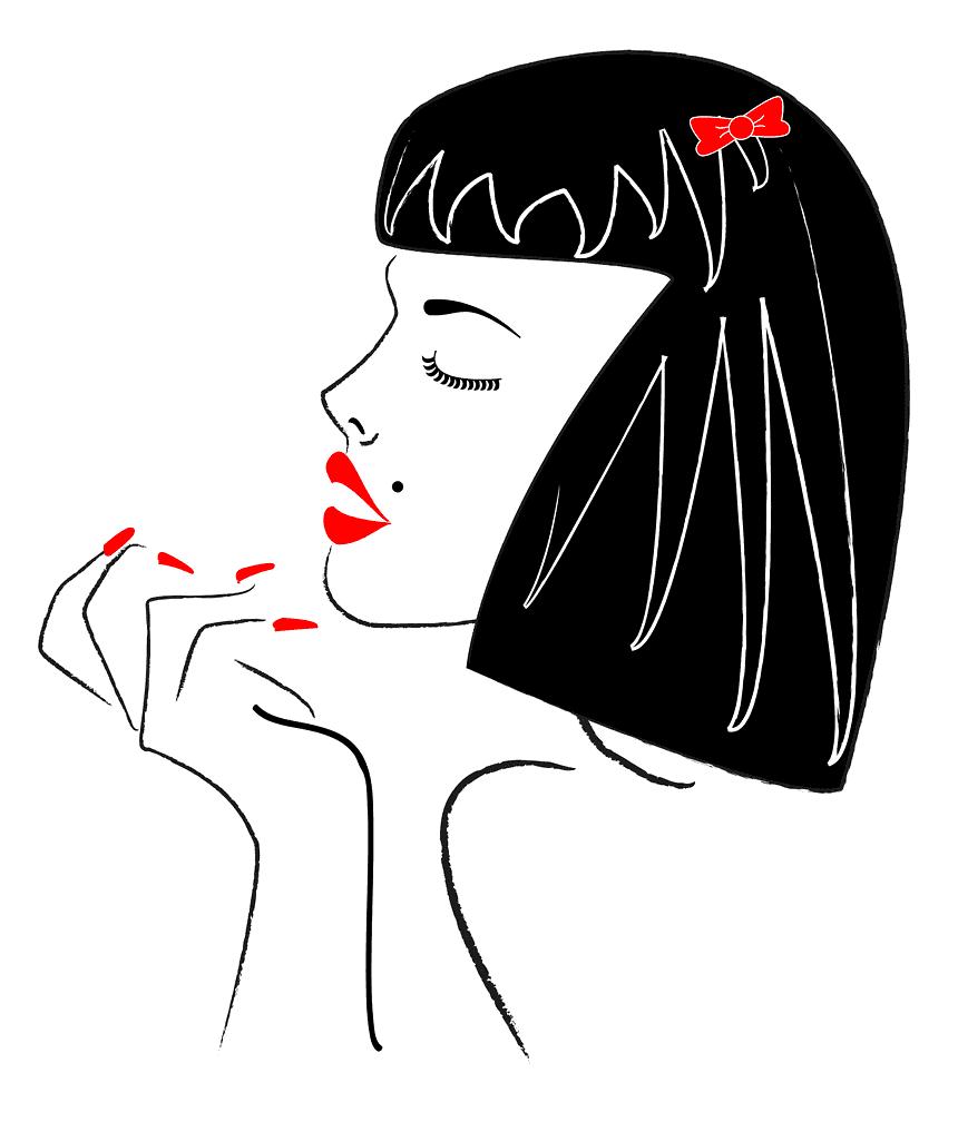Labios rojo pasión.