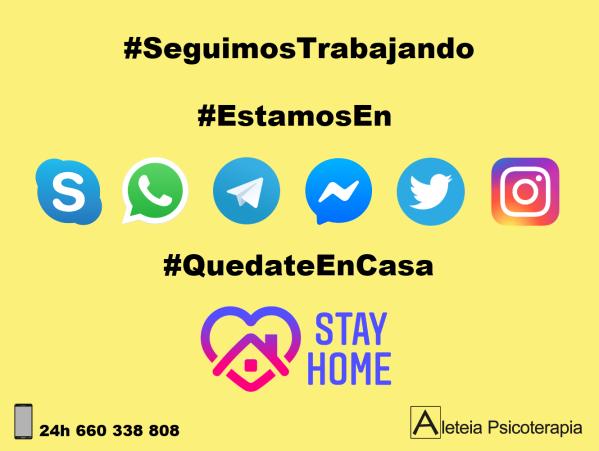 #SeguimosTrabajando #QuedateEnCasa #StayHome #covid19españa #COVID19 #AleteiaPsicoterapia #Psicoterapia #Psicoanalisis #Ourense #Orense