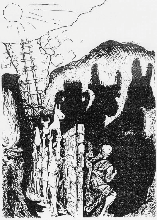 Alegoría de la caverna, por Markus Maurer.
